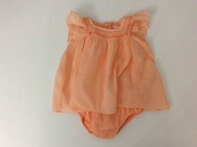Chloe Orange Baby Girls Outfit Set Playsuit Jumpsuit Dress Age 3 Months
