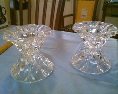 Cristal D'Arques Crystal Candle Holders Pair