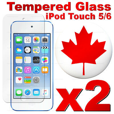 Premium Tempered Glass Screen Protector For iPod Touch 5 & iPod Touch 6 (2 PACK)