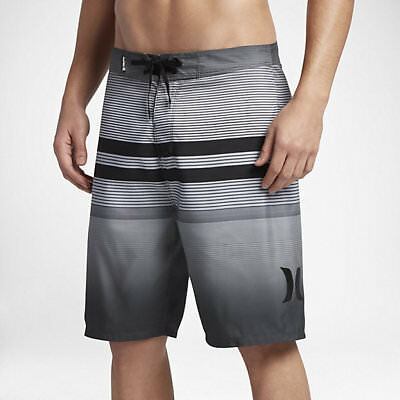 b53878e05d New HURLEY Southswell black gray stripe board shorts swim trunks or 30 or 32