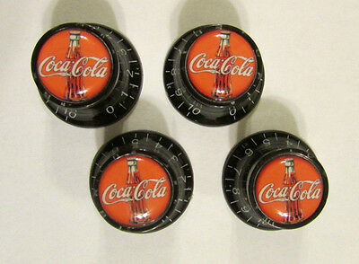 Coca-Cola Guitar Knobs, Coca Cola logo volume Guitar Knobs, Coke soda knobs