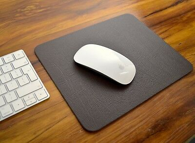 EXECUTIVE BROWN Bonded Leather COMPUTER MOUSEMAT, Mouse Mat, Apple, UK Made
