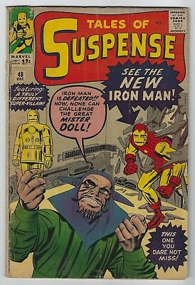 Tales of Suspense #48 (1963, Marvel) 1st App Red & Gold Armor, Lee, Ditko, G/G+