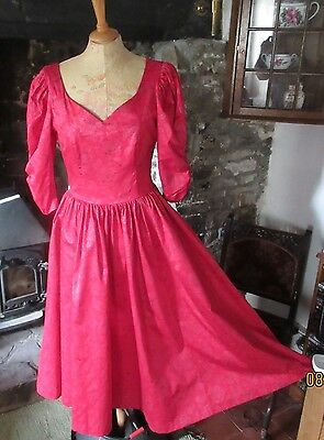 Vintage Laura Ashley Red Special Occasion  Dress. Beautiful, Pristine. Size 12.