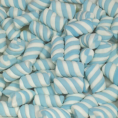 Blue Marshmallow Twists 1kg Bulk Lollies Bag for Lolly Buffet - Lolliland