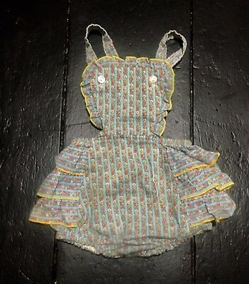 Vintage Baby Girl Ruffle Bottom Bubble Romper Easter Floral 9 Month Merry Capers