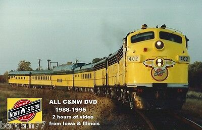 ALL Chicago and North Western DVD 1988-1995- 2 hours 30 years ago
