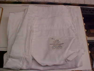 USN Navy Sea Cadet Male Enlisted Dress White Pants Bell Bottoms 31R loc#w152