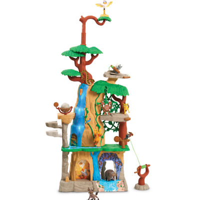 Disney Lion Guard Training Lair Playset Kion Janja Rock Zip Line Jungle Climbing