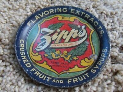 Zipp's Flavoring Extracts Advertising Tip Tray. Crushed Fruit and Fruit Syrups