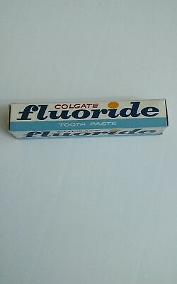 Old Vintage Full Colgate Fluoride Toothpaste New Old Stock from the 60's