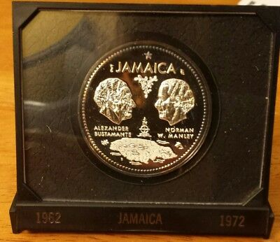 1972 Silver $10 Jamaica proof coin