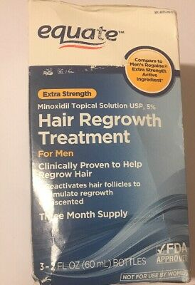 Equate Extra Strength Hair Regrowth Treatment 3 Month Supply  Expires 3/2018