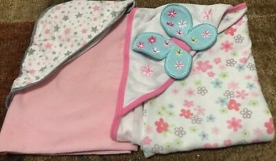 Baby Girl Hooded Bath Towels *LOT OF 2*