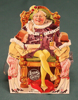 3 Lion Coffee Advertising Toys For Children Old King Cole Dorthy & Cart Railroad