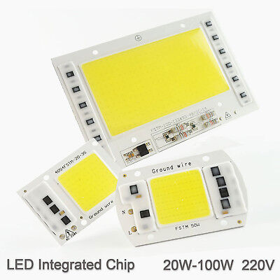 LED Chip Integrated COB 5W 20W 30W 50W 100W 220V Smart IC Driver Cold warm white