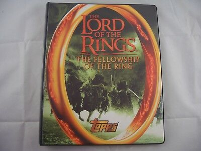Lord of the Rings Fellowship Trading Card Binder & Base set