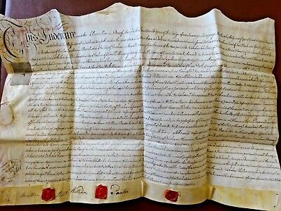 Antique Vellum Indenture From Durham 1774 Reign Of King George Iii