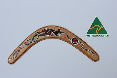 Australian Made 34cm Premium Throwing Boomerang with Kangaroo Design