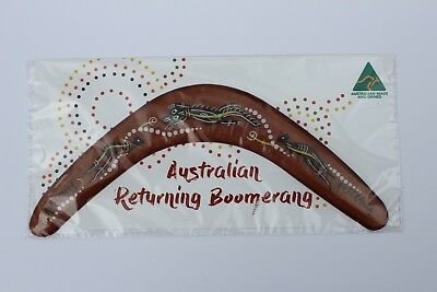 Australian Made 29cm Throwing Boomerang Carded Aboriginal Design