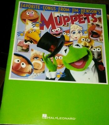 Favorite Songs Jim Henson Muppets Piano guitar Vocal Sheet Music Book