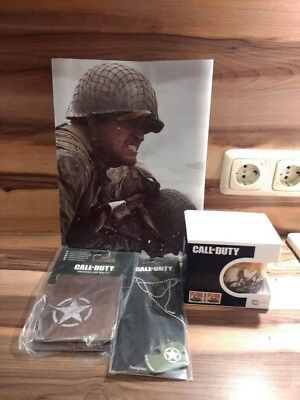 Call of Duty WWII Merchandise/Collectors Pack Poster, Dog Tag, Tasse und Wallet!