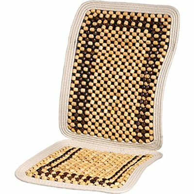 Wood Beaded Car Seat Cover Cool Cushion Back Massage Massager Office Chair