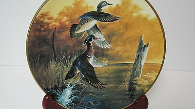 Ducks Unlimited Collector Plate Wood Ducks Taking Flight  1990  6th in Series