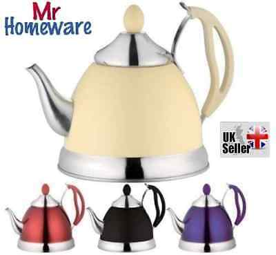 NEW ALIBABA STYLE 1.5L STAINLESS STEEL LIGHTWEIGHT TEA POT WHISTLING KETTLE Colo