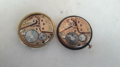 Lot of two vintage 1952 omega cal 266 movements. Running. Free shipping