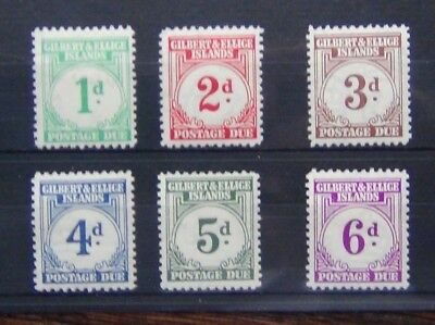 Gilbert & Ellice Islands 1940 Postage Due to 6d MM SGD1 - SGD6