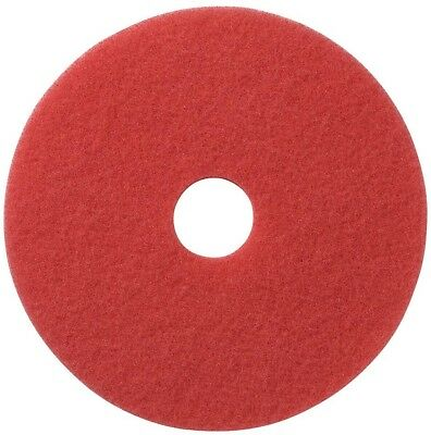 New Glit 20 in. Red Daily Floor Cleaning and Buffing Pad (5-Pack) Model 404420