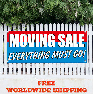 banner vinyl moving sale everything must go advertising flag sign