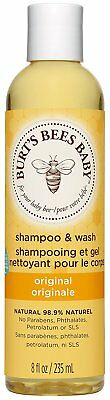 Burt's Bees Baby Bee Shampoo and Wash 235 ml Gentle Soft Skin Hair Fast & Free