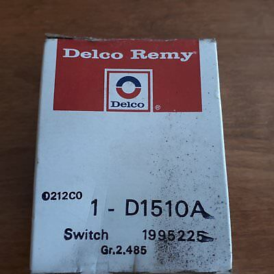 Delco Remy Headlight Switch 1-D1510A