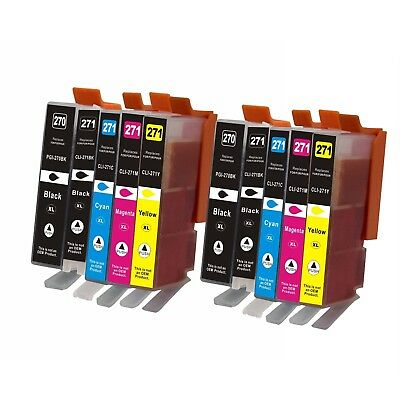 10Pk PGI270XL CLI271XL Ink Cartridge For Canon PIXMA MG5720 MG5721 MG5722 MG6820