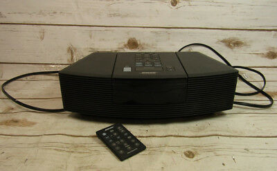 Bose Wave Radio Music Speaker System AWRC-1G Clock Black Tested Works