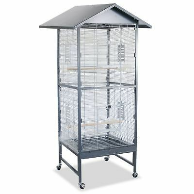 Montana Villa Casa 60 Aviary with Pitched Roof Antique / Platinum Cage