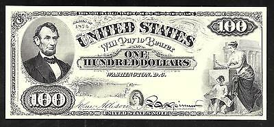 Proof Print by the BEP - Face of a Proposed Series 1874 $100  U. S. Note