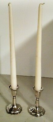 Gorgeous Pair Of Vintage Silverplated Candleholders Taper Princess House