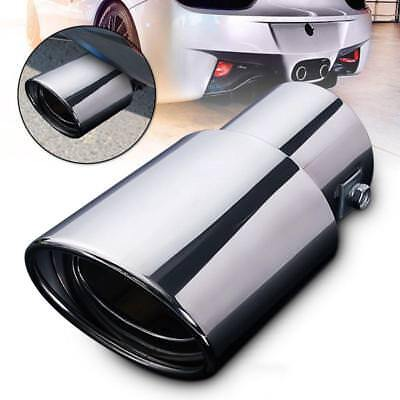 Stainless Steel Auto Car Rear Round Exhaust Pipe Muffler Tail Pipe Trim Tip FI
