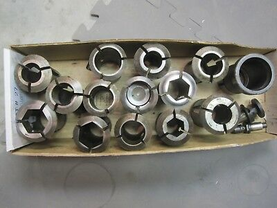 Lot of 13 BROWN & SHARPE  # 22 B & S COLLETS and parts   D
