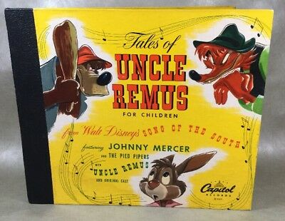 Vtg Capitol Records Disney'S Tales Uncle Remus 3 Record Set 33 1/3 Rpm Untested