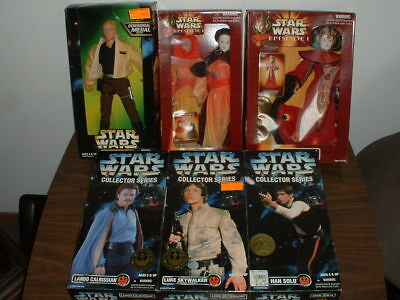 Star Wars Kenner Hasbro 6 Doll Lot Action Collector Series Queen Amidala New