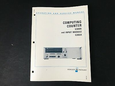 HP 5360A Computing Counter and Input Module 5365A  Operating & Service Manual