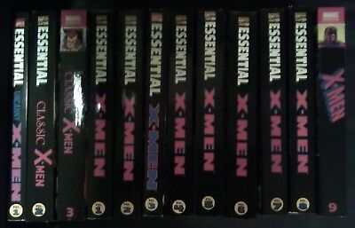 Essential X-Men 12 Book lot Classic 1-3 Uncanny 1-9,  issues  #1-264 Marvel Tpb