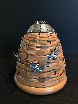Longaberger Basket CC Bee Hive Apiary Handwoven Dresden Ohio Collectible USA