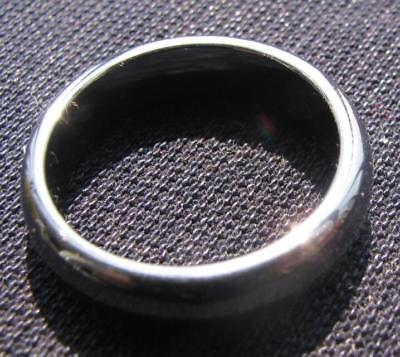 .natural meteorites. hand carved  band ring size9.5