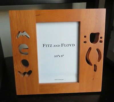 "Fitz and Floyd - Cat Picture Frame - Meow (3.5"" x 5"")"