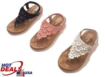 Toddler Little Kid Girl Soft Sole Crib Outdoor Shoes Summer Sandals Size 10-4
